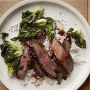 Glazed Steak with Sautéed Bok Choy