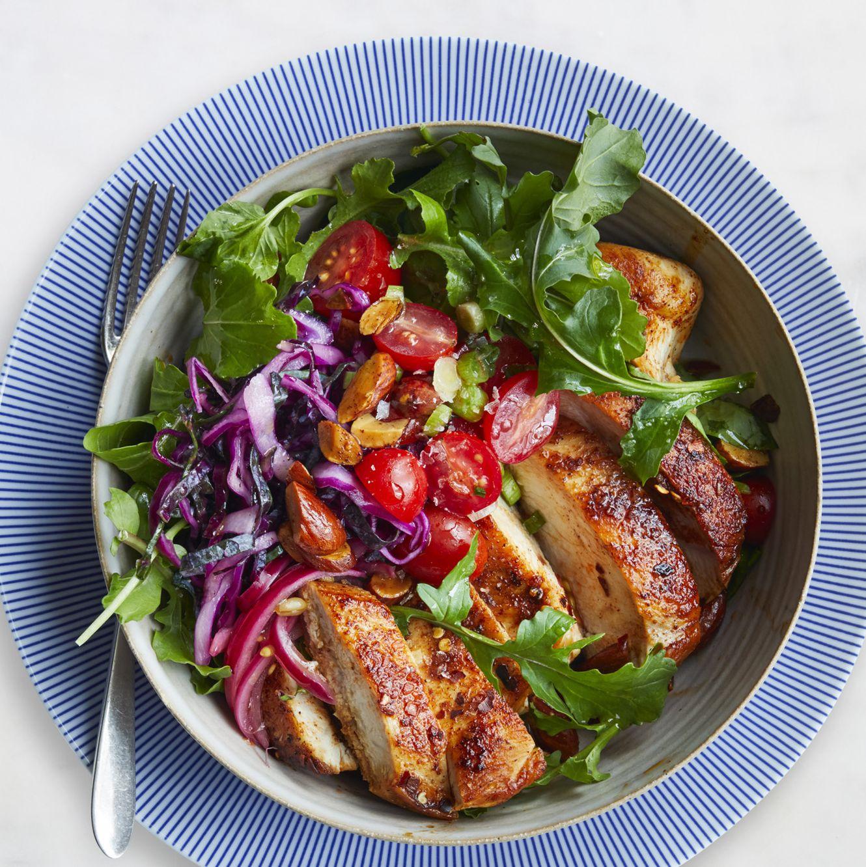 easy chicken dinner recipes -Moroccan Chicken Bowl