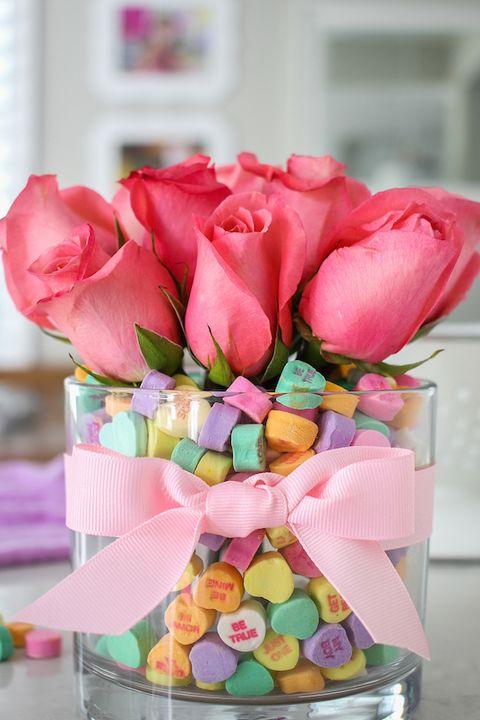 Valentine's Day Decoration Ideas - Conversation Heart Bouquet
