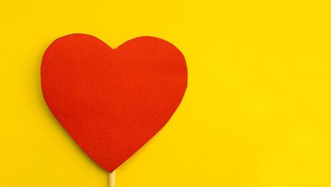 Heart, Red, Yellow, Love, Valentine's day, Heart,