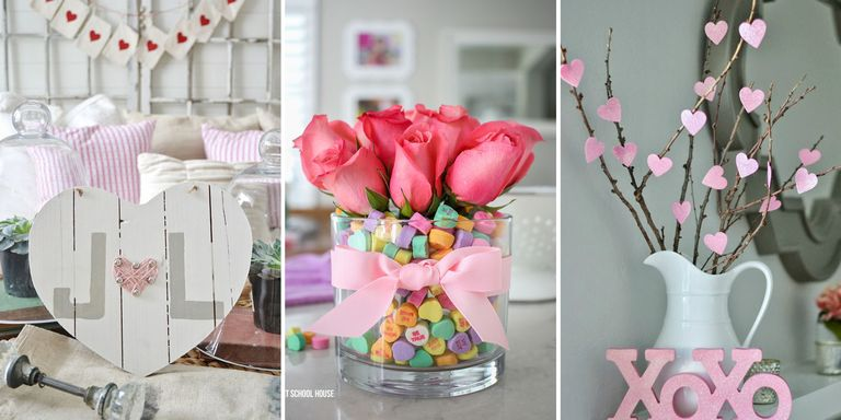 15 DIY Valentine\'s Day Decorations - Easy Valentines Day Decor Ideas