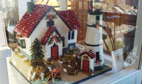 Another Winner At The National Gingerbread Competition In Asheville, North  Carolina, This Festive Home (and Lighthouse!) Looks As If Real Snow  Flurries Have ...