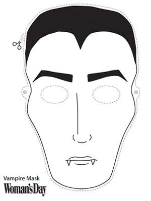 Halloween Crafts Printable Vampire Face Mask At WomansDay