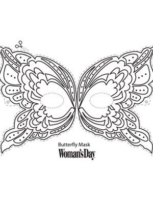 Halloween Crafts- Butterfly Face Mask at WomansDay.com