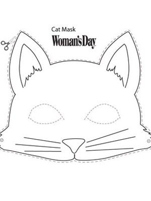 graphic regarding Cat Mask Printable titled Halloween Crafts- Printable Cat Encounter Mask at
