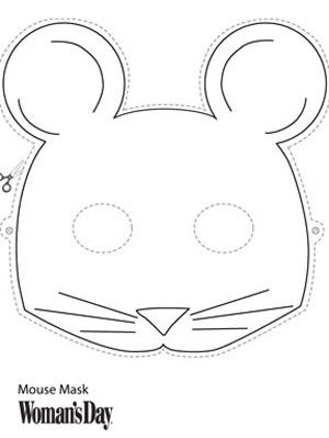 Halloween Crafts- Printable Mouse Face Mask at WomansDay.com