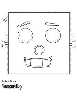 Halloween Crafts- Printable Robot Face Mask at WomansDay.com