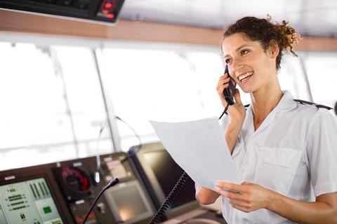 cruise director aboard a ship