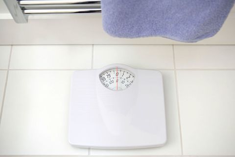 scale in bathroom