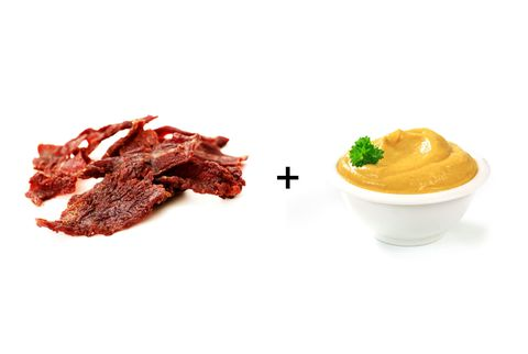 Turkey jerky with mustard