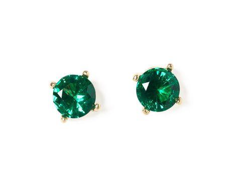 emerald green super studs