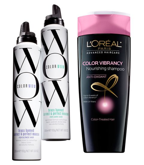 l'oreal shampoo and colorwow mousse