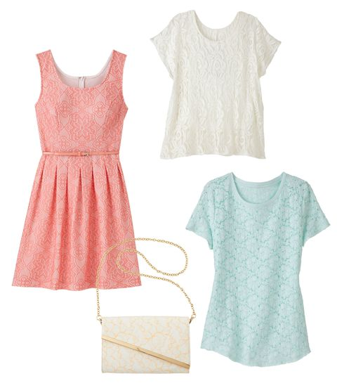 lace dress tops and purse
