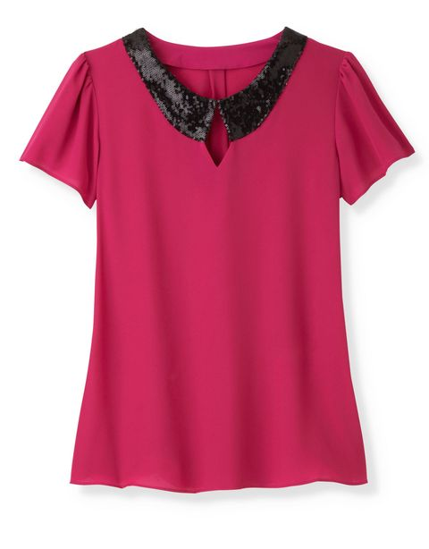 sequined trim blouse