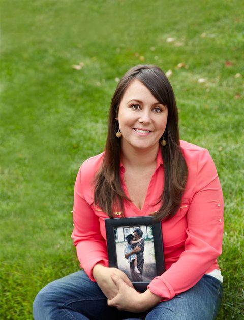 Juanita holding photo