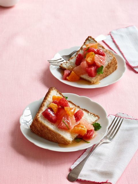 angel food cake with citrus salad