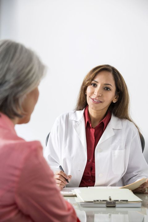 woman talking to the doctor