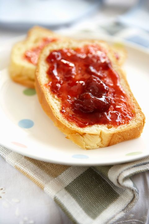white bread and jam