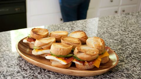 sandwiches on the kitchen counter