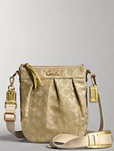 Coach Parker Linen Lurex Swingpack bag