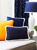 Rope trim pillow