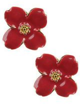 Blooming red flower earrings from Forever 21