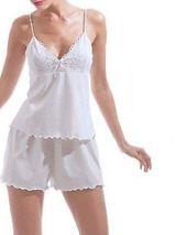 cotton lace pajama set