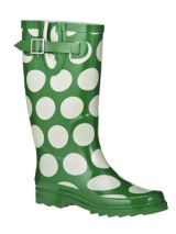 Wellies: Mod Dot Rain Boots (Olive)