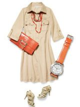 Safari dress accessorized