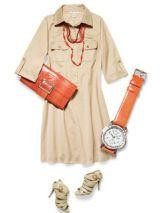 Safari dress accessorized