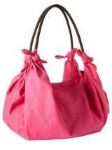 Linen-Blend Scarf Hobo in Pink Shag