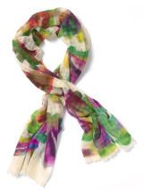 watercolor-inspired scarf