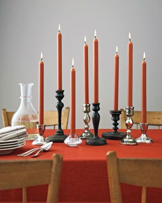 Colored Candle Display