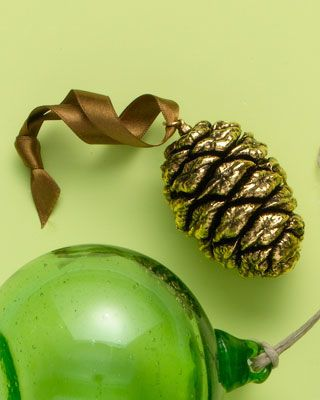 Gold Plated Sequoia Cone