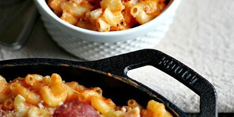 skillet mac and cheese pizza