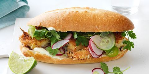 Crispy Coconut Shrimp Sandwich
