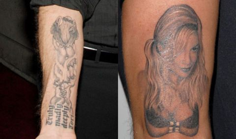 Photographs of Celebrity Tattoos at WomansDay.com - Worst ...