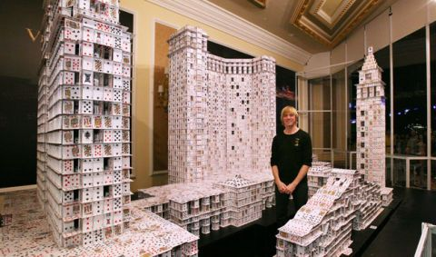 Largest Playing Card Building Extreme Art By Bryan Berg