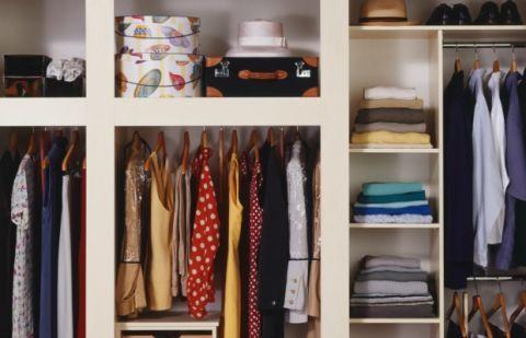 Room, Shelving, Collection, Clothes hanger, Fashion, Shelf, Closet, Electric blue, Home accessories, Fashion design,