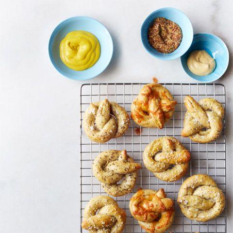 grainy mustard soft pretzels