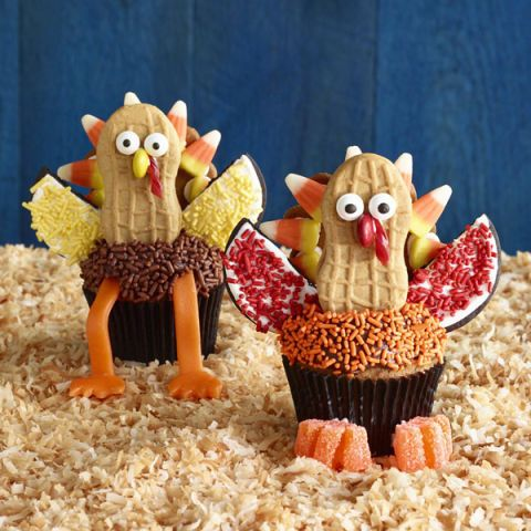 silly turkey cupcakes