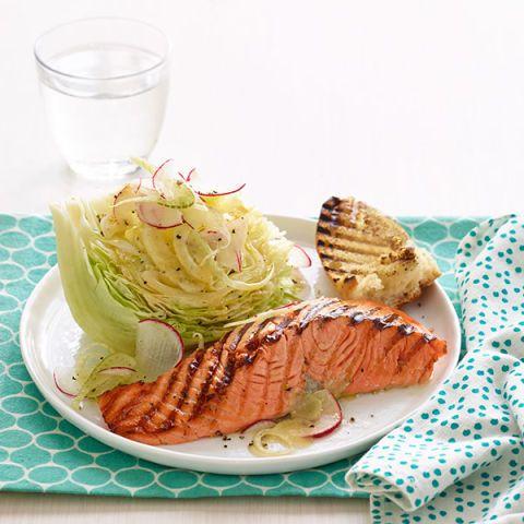 grilled salmon wedge salad