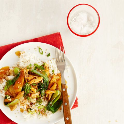 chili soy chicken and bok choy