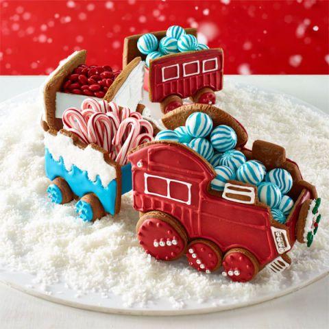 gingerbread train cars