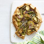 asparagus potato and spinach galette