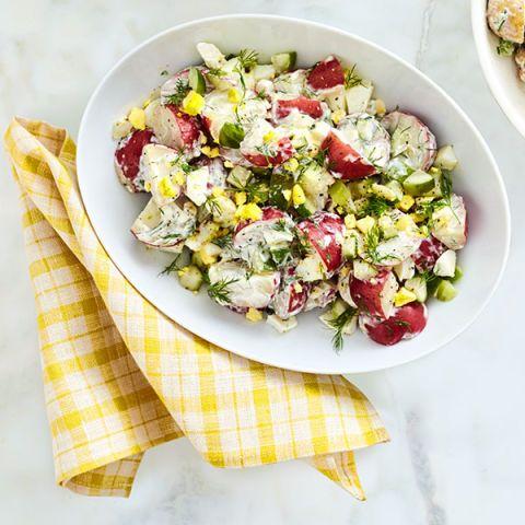 tangy potato and egg salad