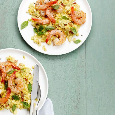 shrimp and sweet corn grits
