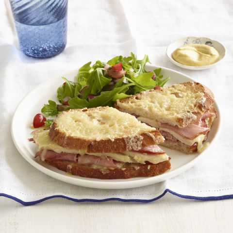 broiled turkey ham and cheese sandwiches