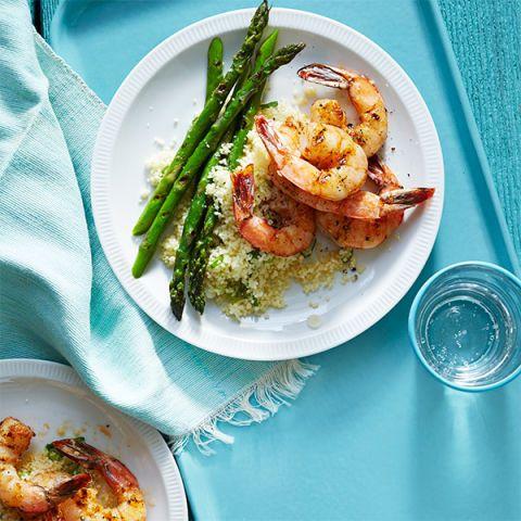 cumin grilled shrimp and asparagus