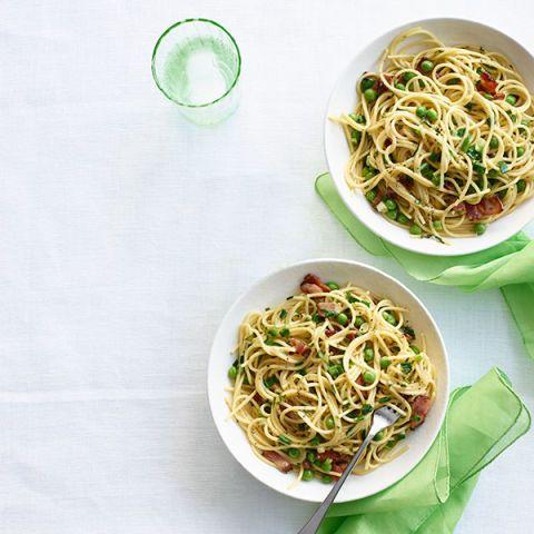 spring pasta carbonara